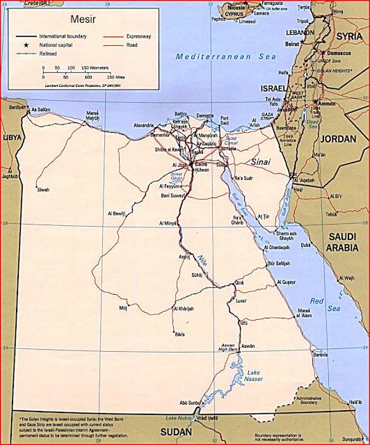 Gambar Peta politik Mesir
