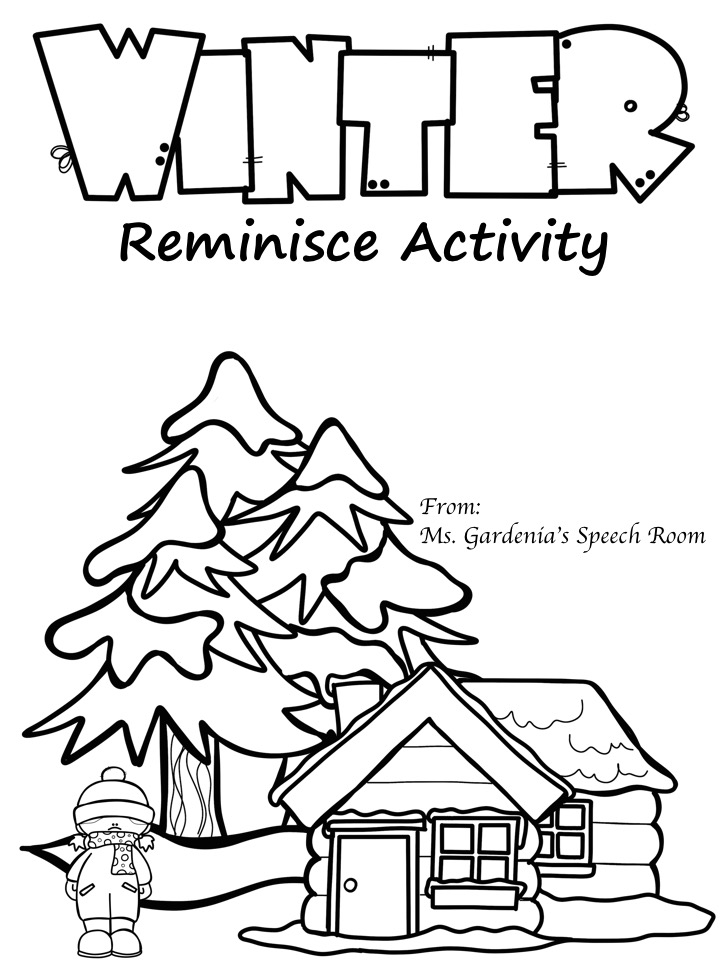 Winter Reminisce Activity