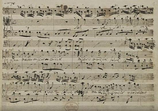 Handel's autograph manuscript of Salve Regina, HWV 241