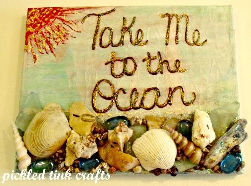 Beach Seashell Canvas