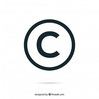 símbolo copyright e royalties