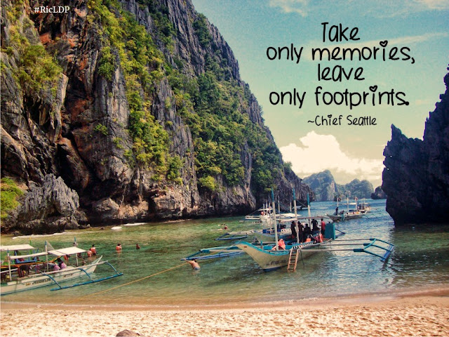 Take only memories leave only footprints