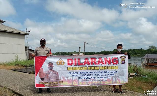 Aiptu Taryat Hidayat Laksanakan Sosialisasi, Imbau Warga Jangan Lagi Membakar Hutan dan Lahan