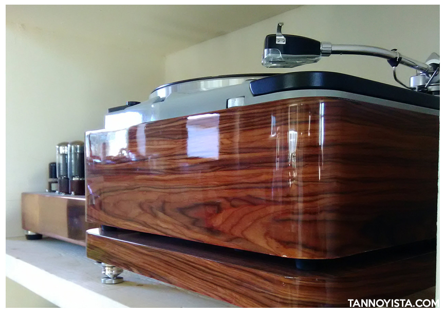 Thorens TD-124 MKII Solid wood Plinth