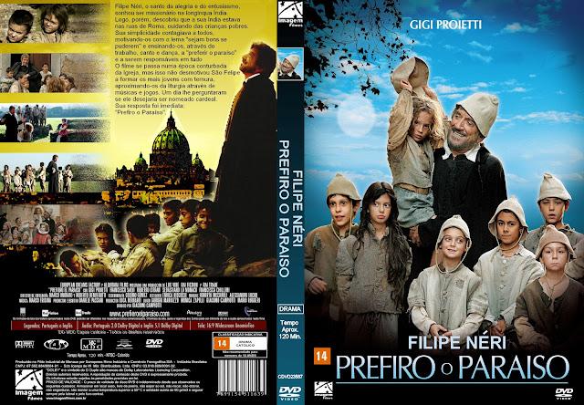 Capa DVD Felipe Neri Prefiro O Paraíso