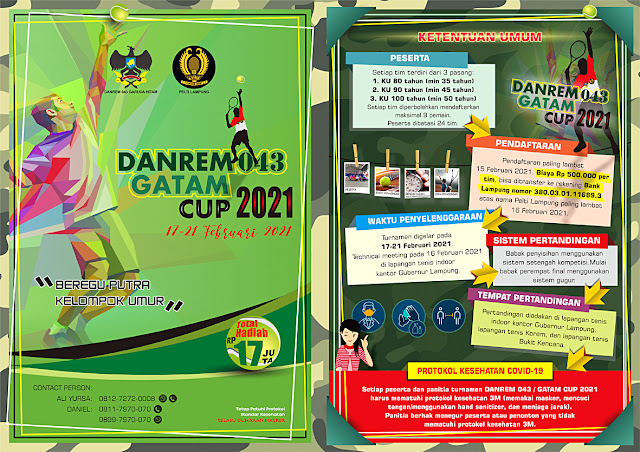 KEJUARAAN TENIS DANREM 043 GATAM CUP 2021