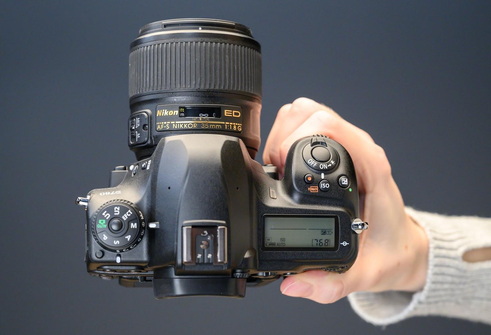Nikon D780, вид сверху