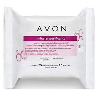 lenços micelares de limpeza facial Avon resenha dicas da tia