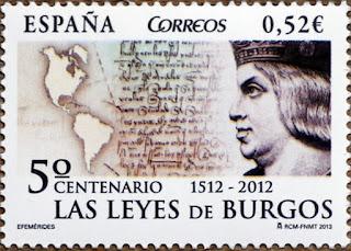 5º CENTENARIO LAS LEYES DE BURGOS 1512-2012