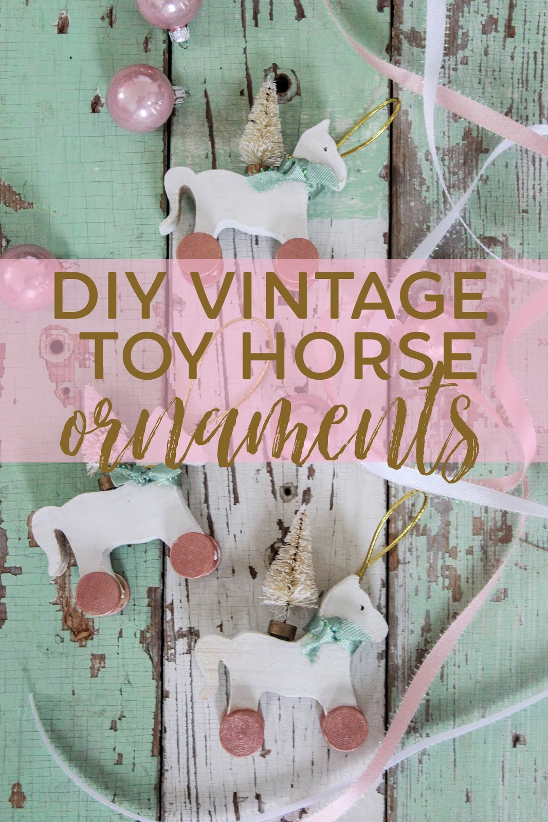 DIY Vintage Toy Horse Ornaments