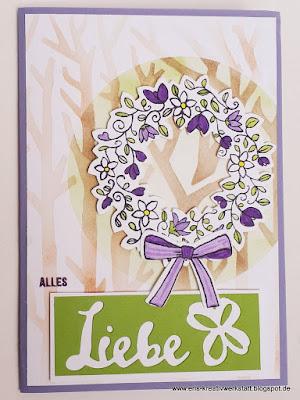 Geburtstagskarte im Wald mit Wischtechnik Stampin' Up! www.eris-kreativwerkstatt.blogspot.de