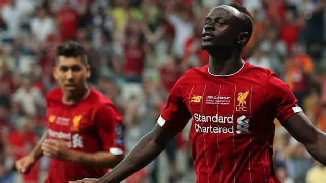 Sadio Mane Liverpool FC Scores And Celebrates With Firmino
