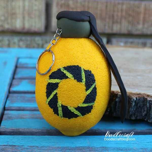 Make a combustible lemon grenade from the Portal 1 and 2 video games, perfect for a Portal themed Birthday Party. You monster.