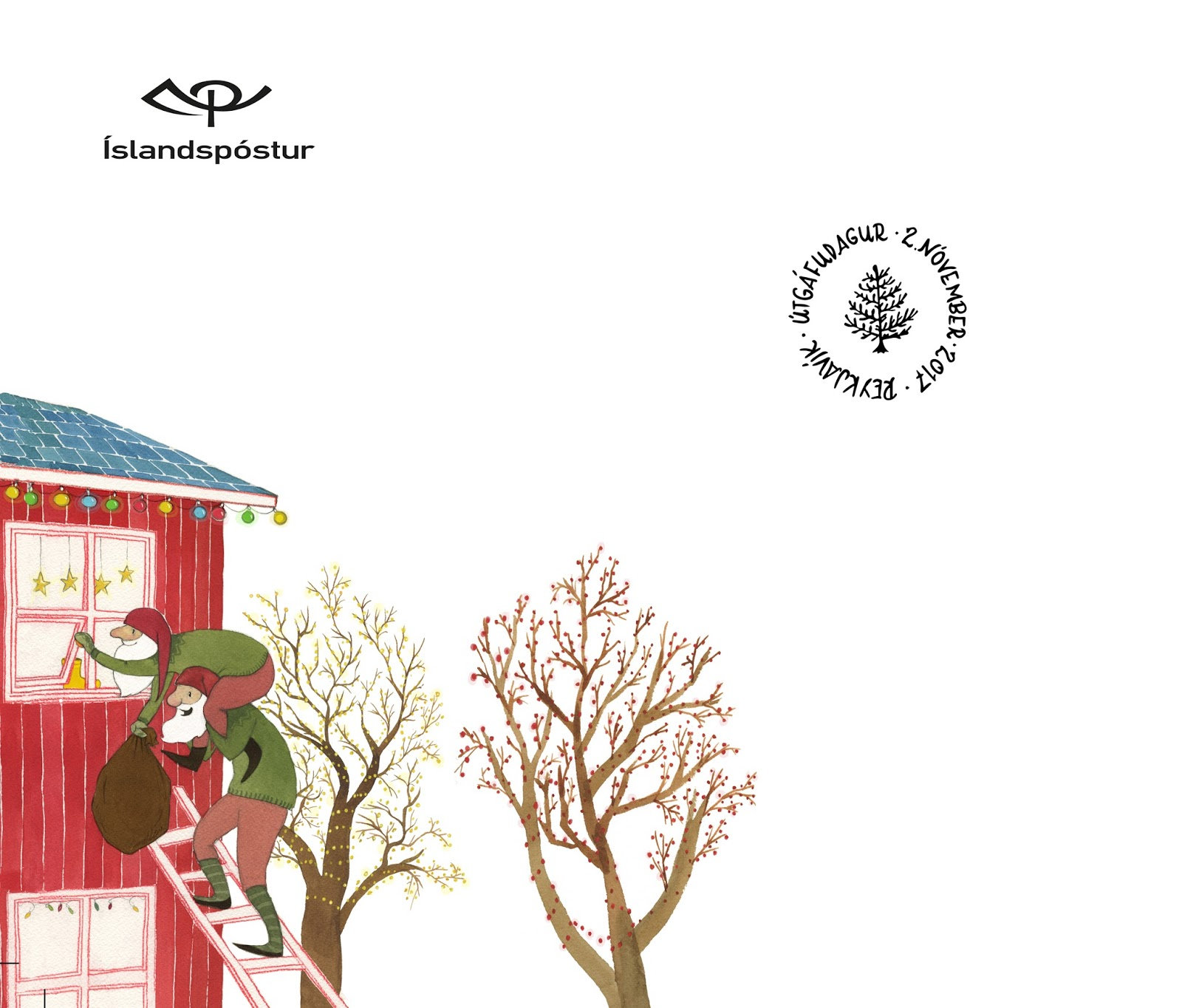 Linda Olafsdottir - Illustration & Fine art: 2017 Christmas Stamps ...