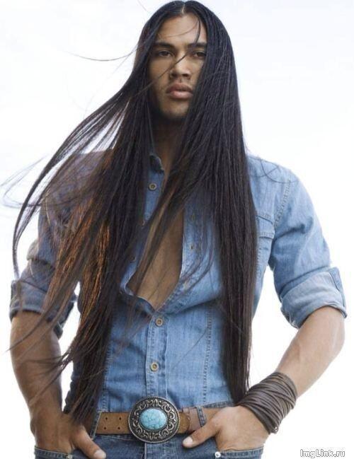 long hair style for men