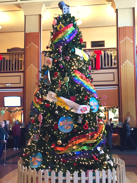 Swept up by The Wizard of Oz tree at the Paramount!