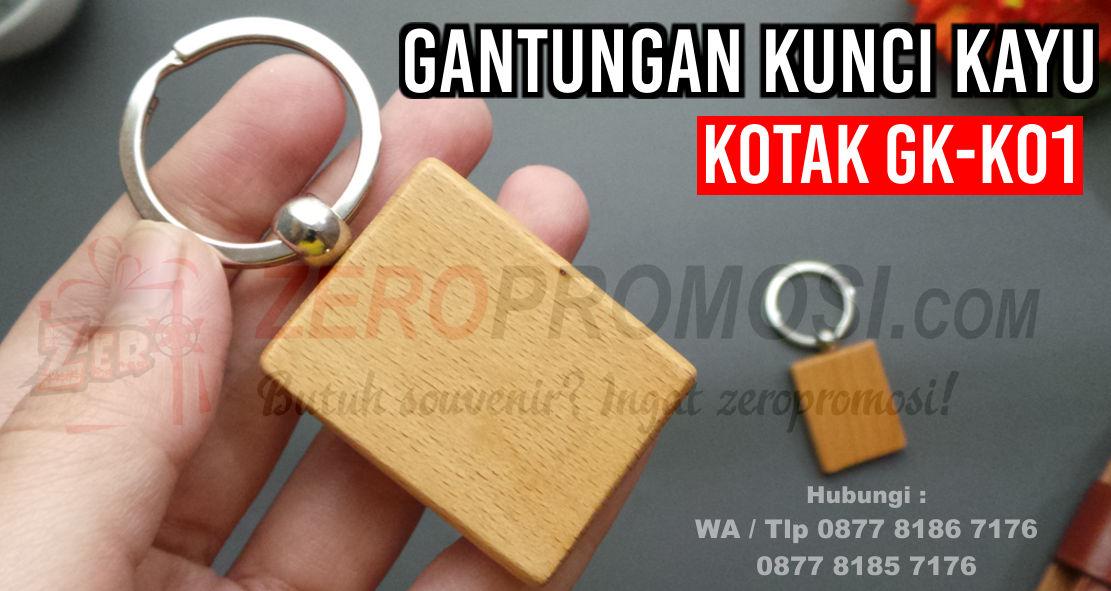 Jual Souvenir Gantungan Kunci Kayu Kotak, souvenir gantungan kunci, gantungan kunci promosi
