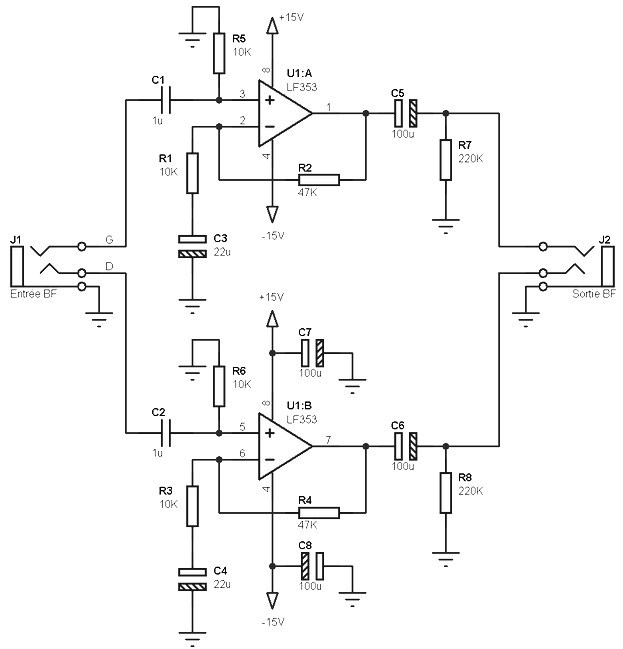 LM358%2Bpreamp%2Bcircuit lf353 pre amp circuit diagram subwoofer bass amplifier  at crackthecode.co