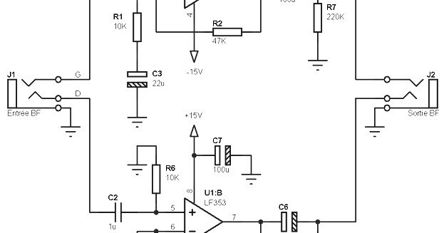 Lf353 Pre Amp Circuit Diagram Subwoofer Bass Amplifier