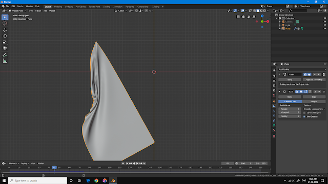 Blender 2.8 cloth self collision