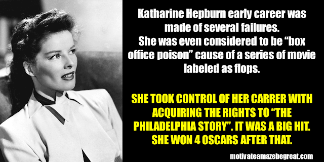 Success Stories From Famous People Who Failed Before Succeeding: Katherine Hepburn