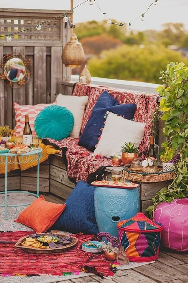 11 Ideas About Boho Chic Terraces - Very Cozy To Enjoy With Your Family 4