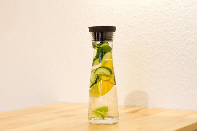 Cara Membuat Infused water Timun Dan Lemon