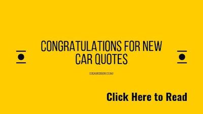 congratulations for new car quotes