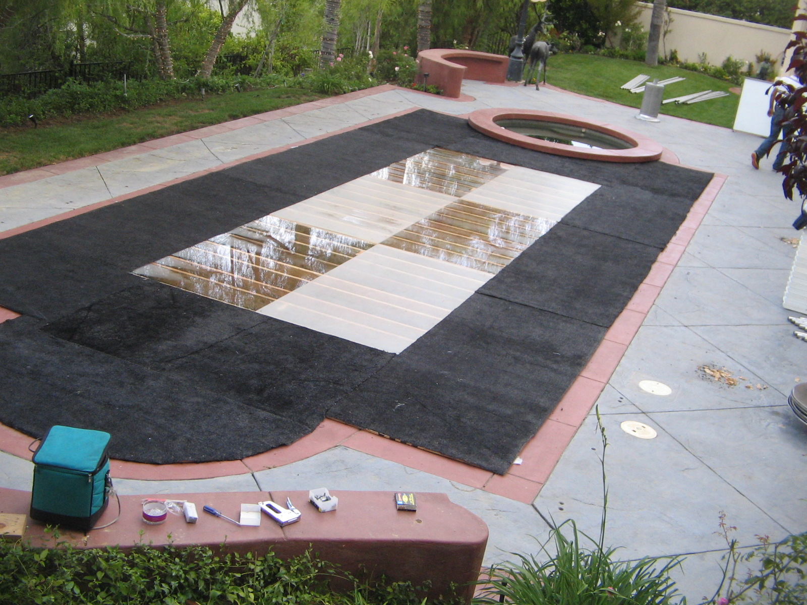 Dancefloor Pool Cover Dance On Your Pool Dancefloor
