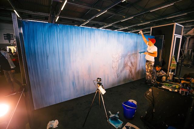 Ben Heine Art for Justice League Movie Release -- Warner Bros Belgium - Live Performance - Facts Comic Con - Kinepolis Exhibition 2017