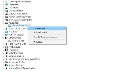 تحديث برامج التشغيل القديمة باستخدام وظائف Windows المضمنة ، مثل إدارة الأجهزة