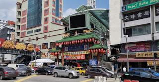 Petaling Street o Calle Petaling.Barrio Chino o China Town. Kuala Lumpur. Malasia.