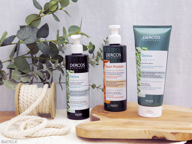 Vichy cure detox Dercos Nutrients avis