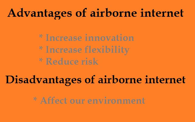 Advantages and disadvantages of airborne Internet
