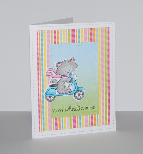 You're Wheelie Great by Christine features Newton Scoots By by Newton's Nook Designs; #newtonsnook