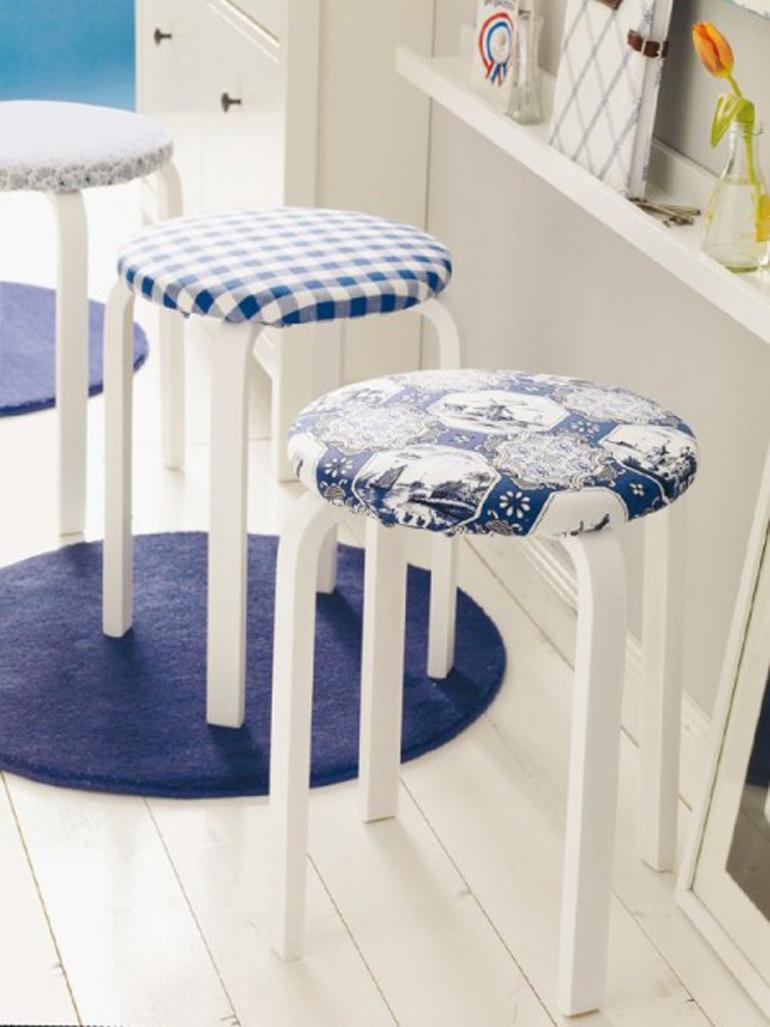taburete frosta tapizado ikea hacks