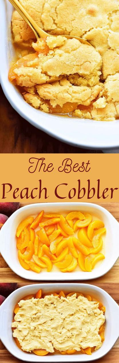 The Best Peach Cobbler #peach #die #recipe #salad #cake
