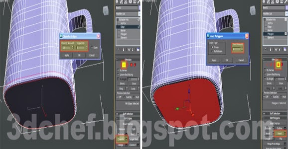 chamfer 3ds max poly modifier