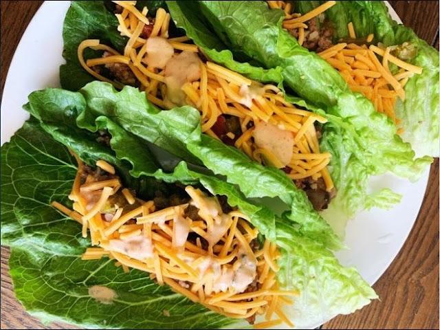 Big Mac Lettuce Wraps #lowcarb #lunch