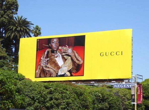 Gucci Spring 2017 iguana billboard