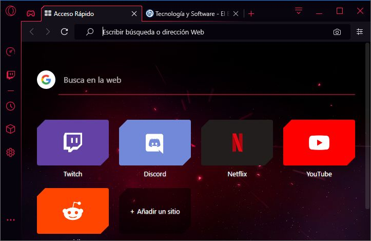 Opera GX: El primer navegador web creado para jugadores, ya está lista para su descarga