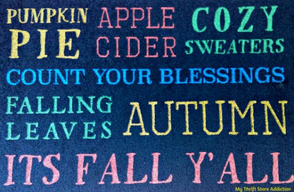Autumn door mat