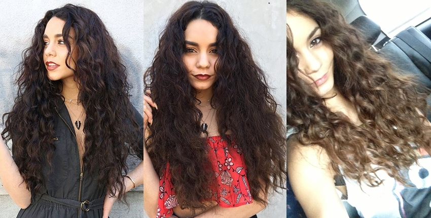 Vanessa Hudgens natural hair