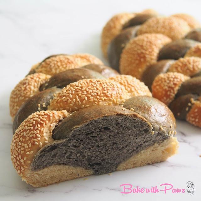 Sesame Soft Sourdough Braided Bread