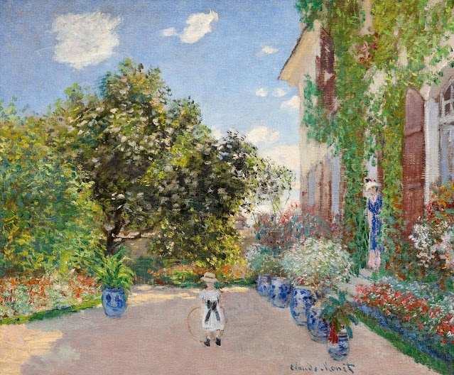1873. Claude Monet - The Artist's House at Argenteuil