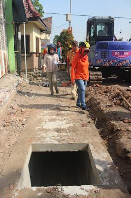 Walikota Sidak Proyek Gorong-Gorong Beton
