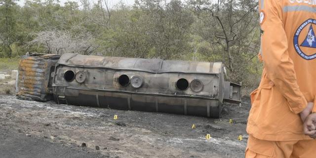Ya son 10 muertos por explosión de carro tanque en Tasajera