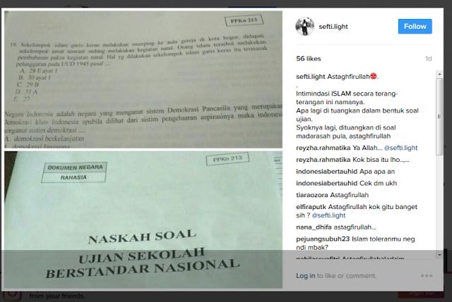 Guru Ini Benarkan Ada Soal Ujian SMA/MA yang Sudutkan Umat Islam