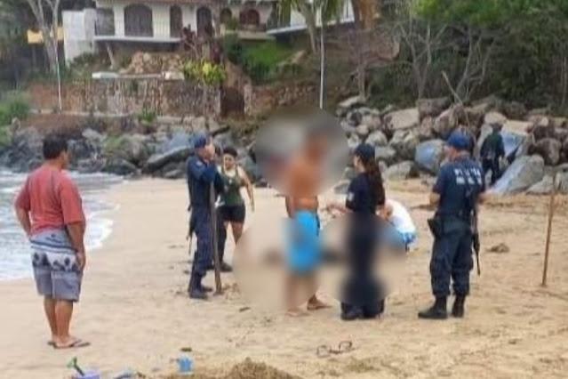 ¡Pesimo día! Padre da la vida por su hijo al salvarlo de morir ahogado en playa de Nayarit