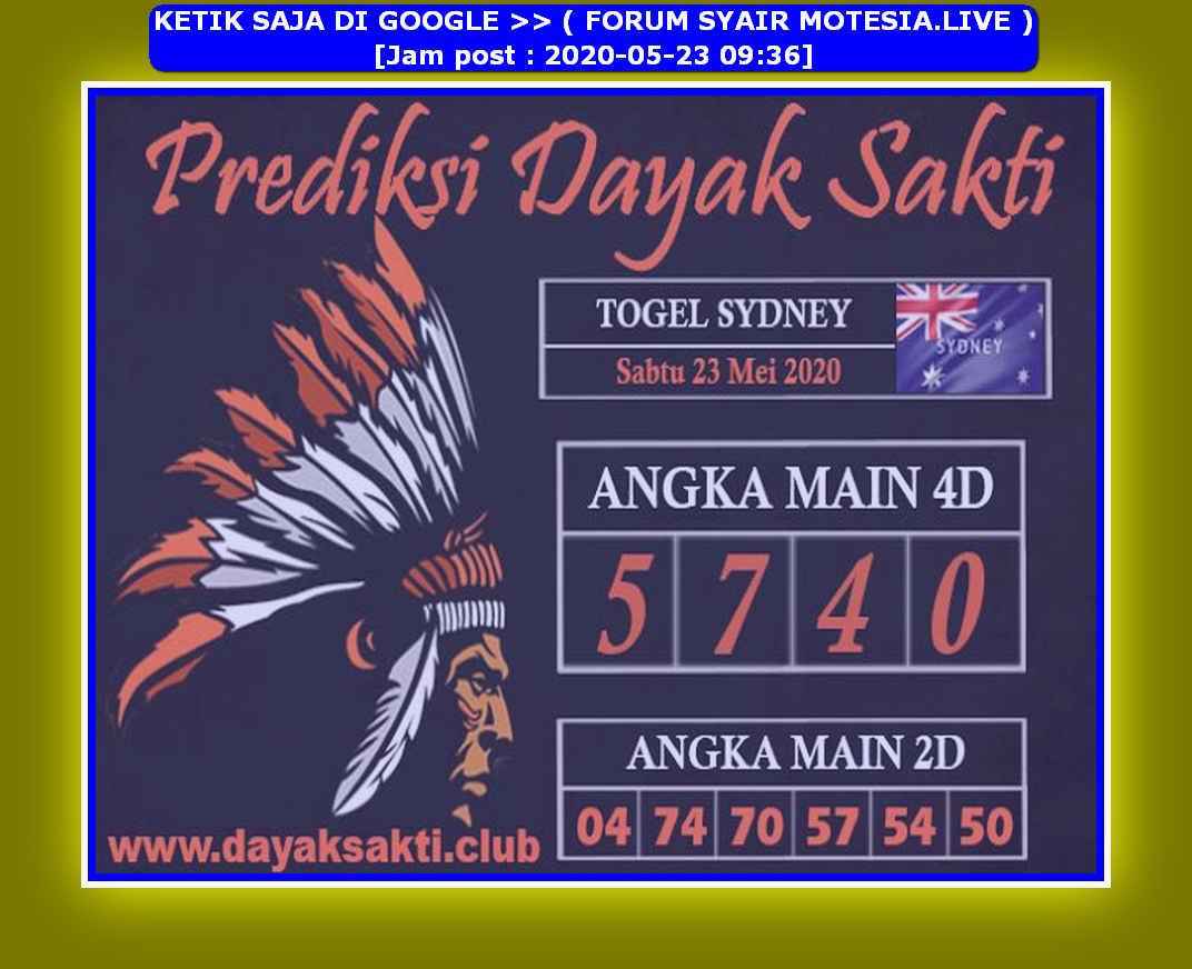 Kode syair Sydney Sabtu 23 Mei 2020 169